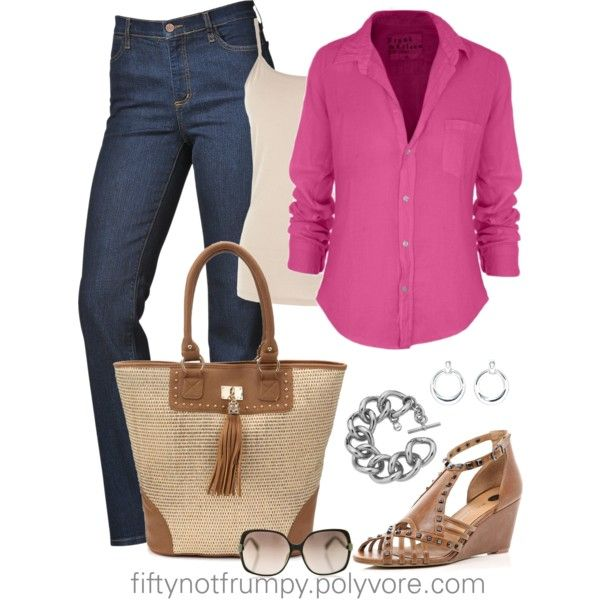 Pretty in Pink by fiftynotfrumpy on Polyvore