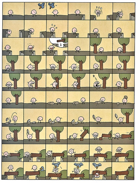 The Mister O comics strip by Lewis Trondheim by Michael Surtees, via Flickr