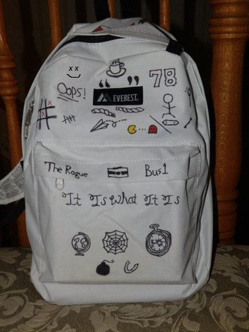 Louis Tomlinson Tattoo Backpack by 1DandStuff on Etsy