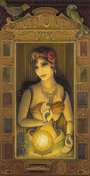 gypsy fortune teller with ouija board and spirits | Weird ... |Gypsy Fortune Teller Symbols