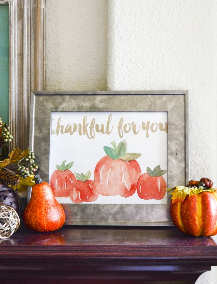 Free Fall Watercolor Printable by Love The Day