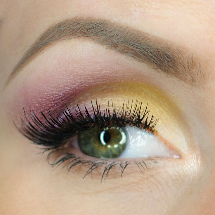 Plum purple sets off the bright yellow in this colorful look by Aleksandra Latos Fabryka Makjazu. She used Makeup Geek Signature Eyeshadows in Bitten, Corrupt, Yellow Brick Road, Barcelona Beach, and Simply Marlena + Makeup Geek Foiled Eyeshadow in In The Spotlight.
