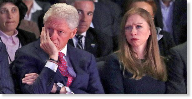 Image result for chelsea clinton announced on twitter who her real father is