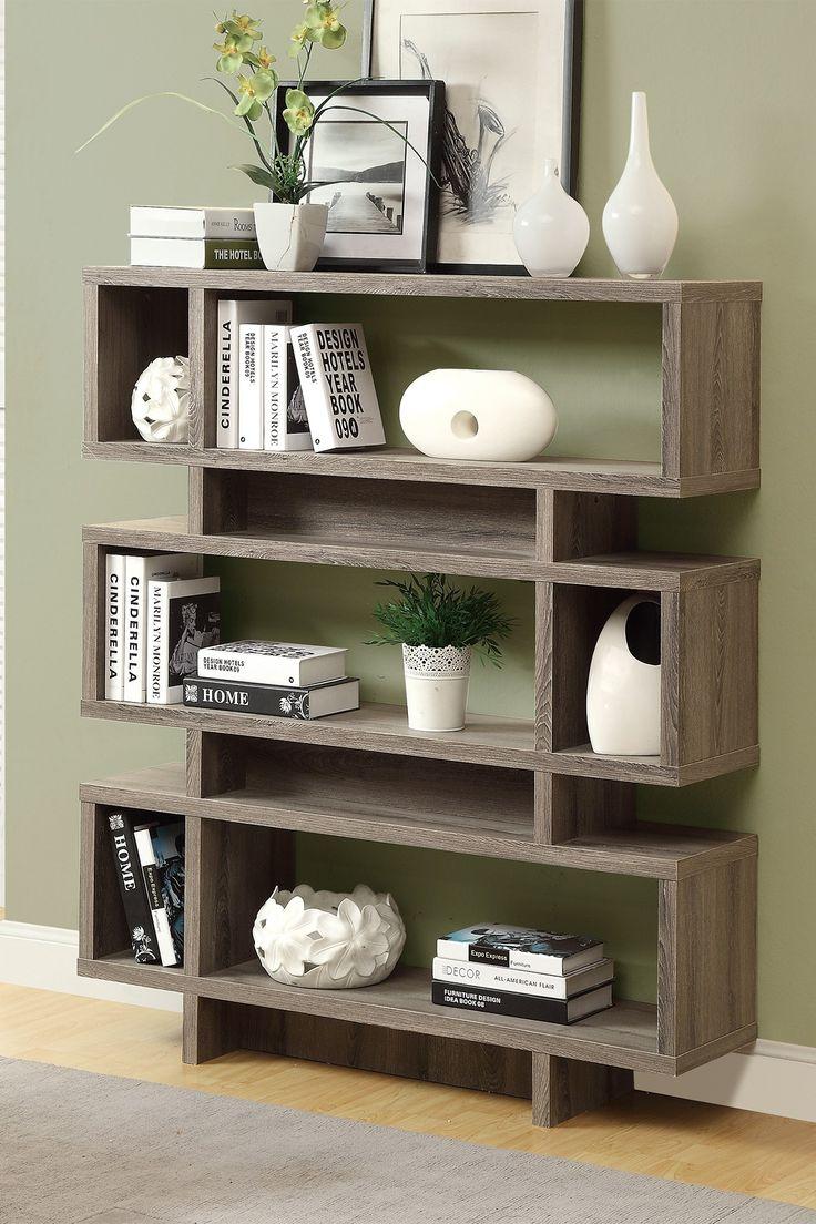 best ghar decor images on pinterest  interior architecture  - dark taupe modern bookcase on hautelook