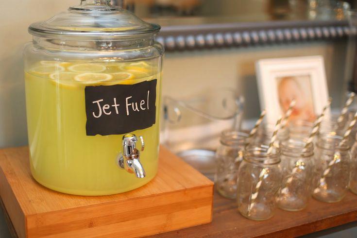 time flies! vintage airplane birthday, jet fuel lemonade