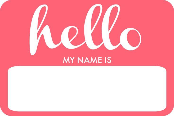Welcome Livvy Diy Name Tag The Elm Life Diy Name Tags Hello My Name Is Printable Name Tags