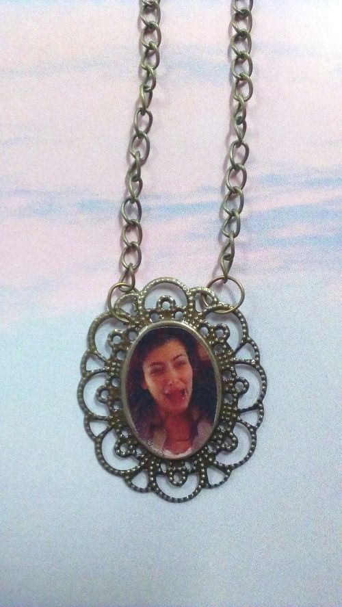 Kim Kardashian Cry Face Necklace by DelphineHandmade on Etsy, $13.00