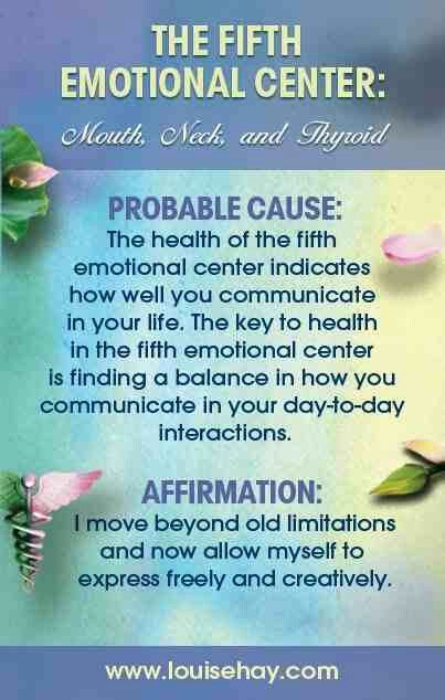 Fifth Chakra - Thyroid ThroatChakra: http://www.spiritualcoach.com/throat-chakra-healing/ #throatchakra #chakrahealing