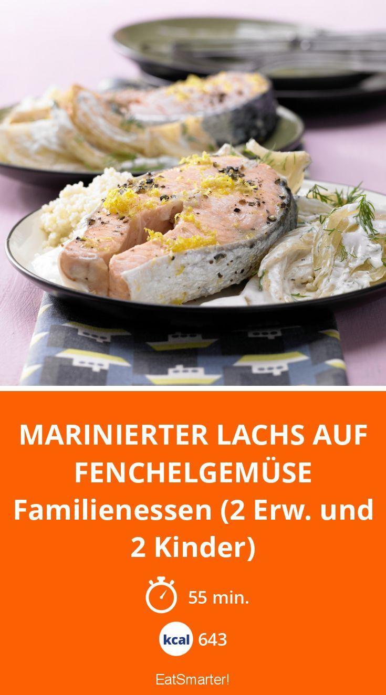 Marinierter Lachs auf Fenchelgemüse - Familienessen (2 Erw. und 2 Kinder) - smarter - Kalorien: 643 Kcal - Zeit: 55 Min. | eatsmarter.de