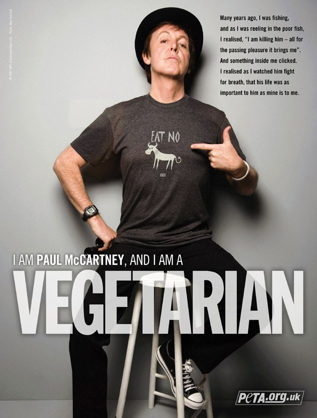I am Paul McCartney, and I am a Vegetarian.