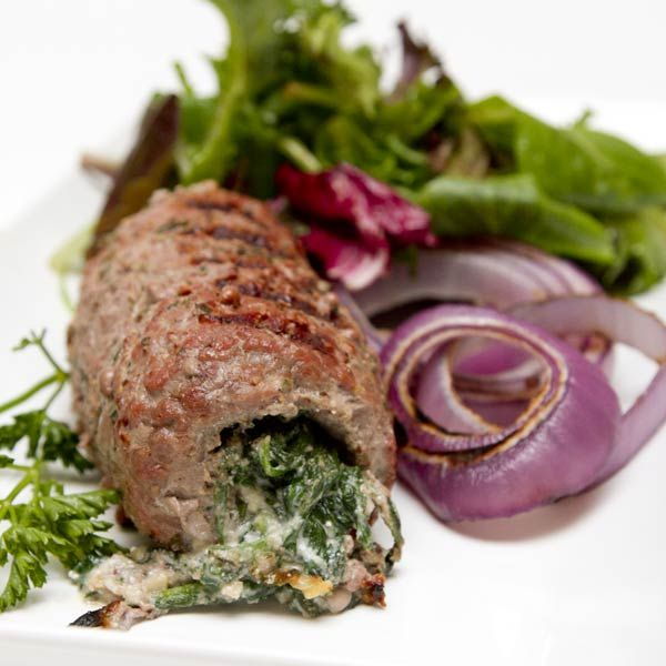 Spinach & Gorgonzola Stuffed Certified Piedmontese Cube Steak.