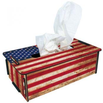 "Werkhaus Shop - Tissue-Box - 141 ""Flagge USA"""
