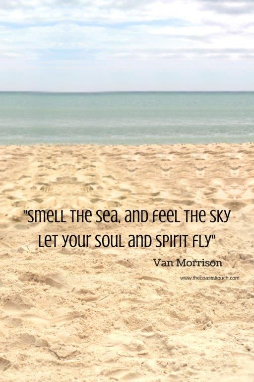 Beach Quotes - Smell the sea and feel the sky. let your soul fly - travel quotes - vacation inspiration - beach love