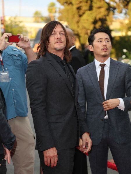 Norman Reedus Photos Photos - Steven Yeun and Norman Reedus are seen arriving at AMC 'Talking Dead Live' for the premiere of 'The Walking Dead' at the Hollywood Forever. - 'Talking Dead Live' For the Premiere of 'The Walking Dead'