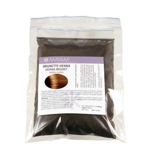 Valnötsskal pulver som ger vackra nyanser av svart/ mörkt brunt, mörkfärgar blont och ljusbrunt hår. Brunett örthårfärg naturligt och skonsamt för håret.