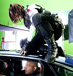 it's a little like being inside a gin and tonic. — Sebastian Stan & James Young - Behind the Scenes
