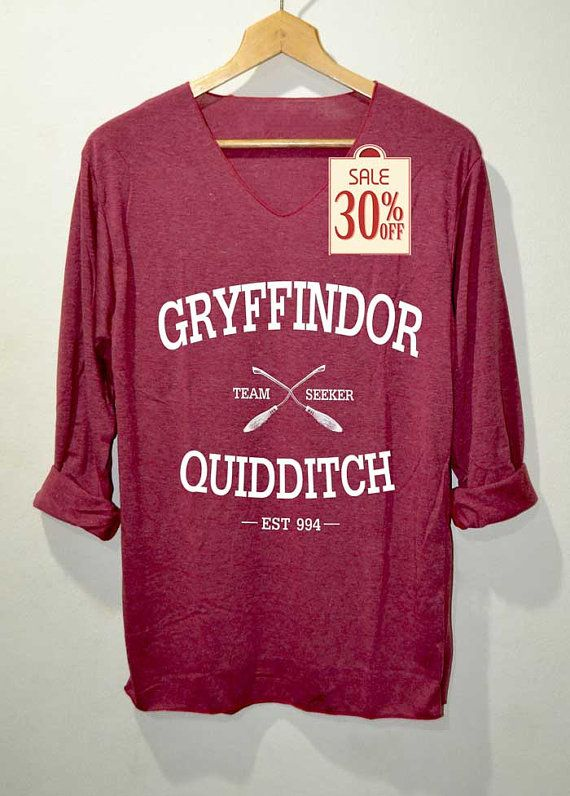 Chemise Gryffindor Quidditch Harry Potter chemises manches longues rouge unisexe adultes taille S M L