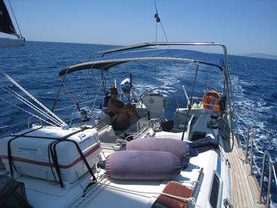 Downwind sailing in the Dodocanese Greek islands