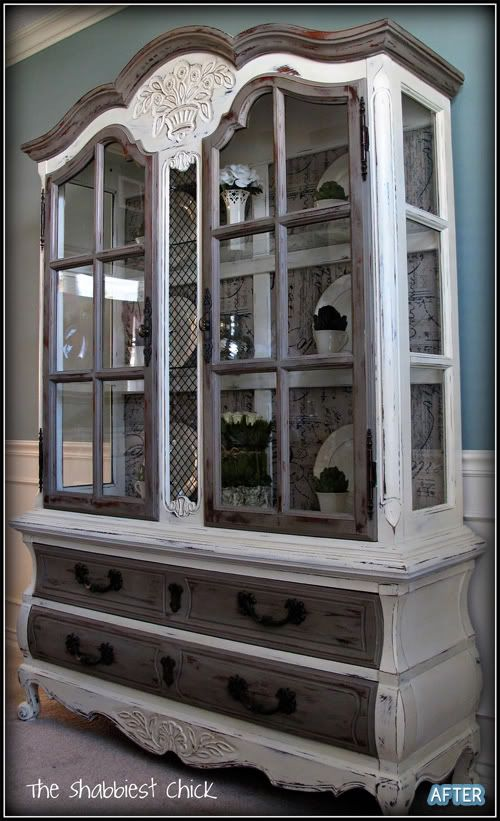 AWESOME furniture redo - from plain old boring wood - great for a variety of decorating styles and a real eye-catcher - from Better After