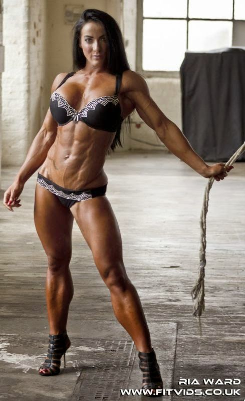 Sexy black muscle women-3656