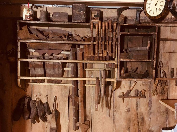 Old carpenter workshop in the barn.