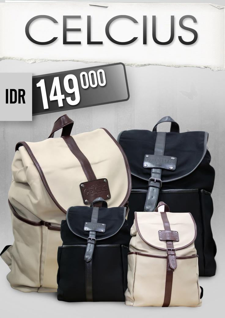 BAG PROMO GUYS !!!!    CELCIUS BAG Rp. 149.000    Color : Black, Brown    Product hanya tersedia di Celcius Store kota :  Samarinda, Pontianak, Banjarmasin, Balikpapan, Palu, Papua, Makasar, Manado, Manado TS, Jayapura, Ternate, Pekanbaru, WTC Jambi, Batam, PLB TC, Semarang, Malang, Mataram, Pontianak