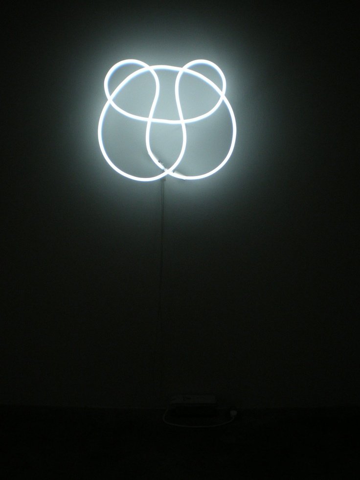 Oeuvre lumineuse n on de l 39 artiste peter coffin pour son for Neon artiste contemporain