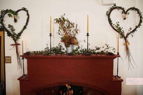 Natural winter wedding decorations
