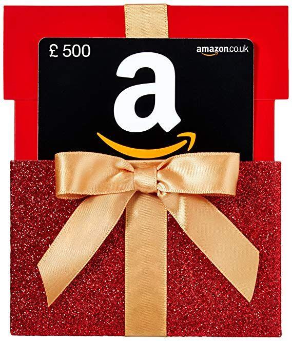 Amazon Co Uk Gift Card Reveal 500 Red Gift Box Amazon