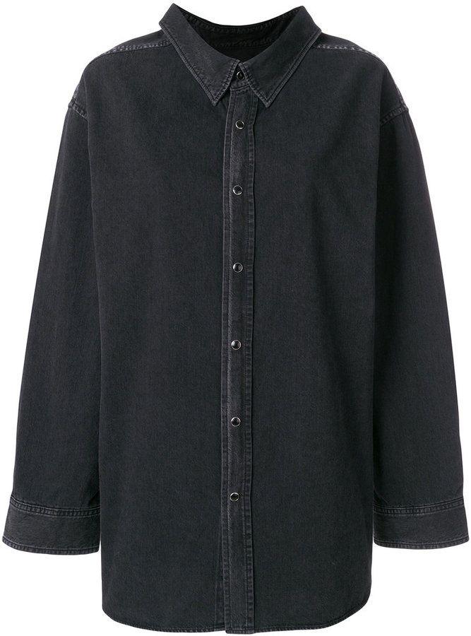 c5f35100ddd61f Balenciaga Swing Collar Shirt | WOMEN'S FASHION | Oversized denim ...