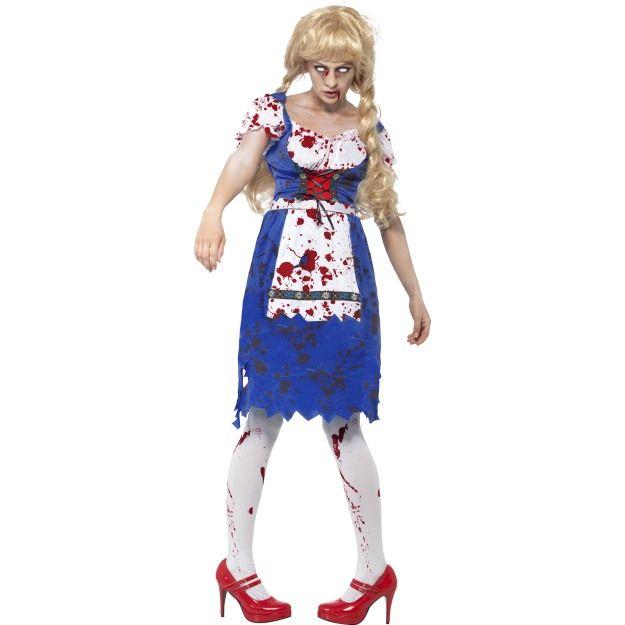 Zombie Bavarian Female Costume, with Dress