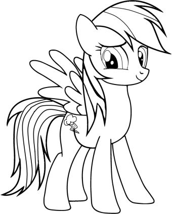 My Little Pony Rainbow Dash Coloring Pages Printable Coloring