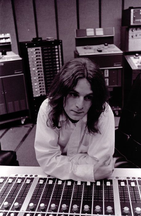 Alex Chilton in the control room at Ardent's Studio A, Madison Avenue, Memphis, circa 1973.