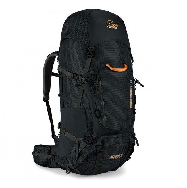 Lowe Alpine Cerro Torre 75:100- Black Brand: LOWE ALPINE Description Undertaking a multi-day wilderness trek or long backpacking trip demands planning, organisation and complete faith in the gear you take. The Cerro Torre 75:100 Rucksack delivers on trust. It is built using a tough nylon grid fabric with a TPU coating. A combination that delivers unrivalled abrasion resistance and durability.  buy now:http://bit.ly/2eX4yXf