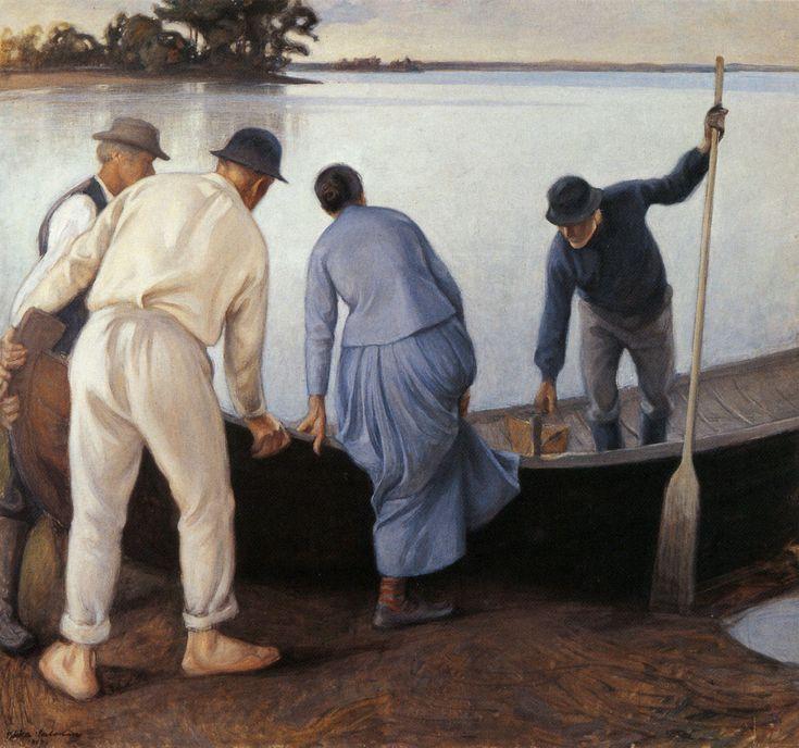 Pekka Halonen, Työstä Paluu, 1907, The Life and Art of Pekka Halonen - http://www.alternativefinland.com/art-pekka-halonen/
