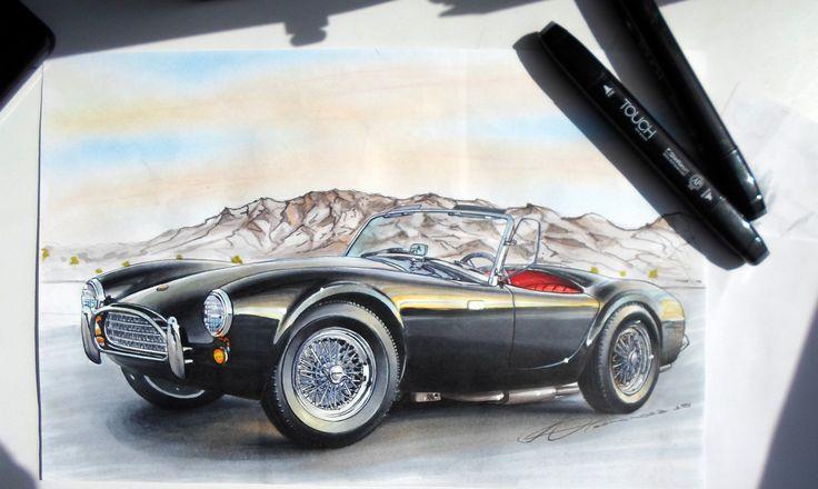 Ilustración automoviles , Escuela luppodesign