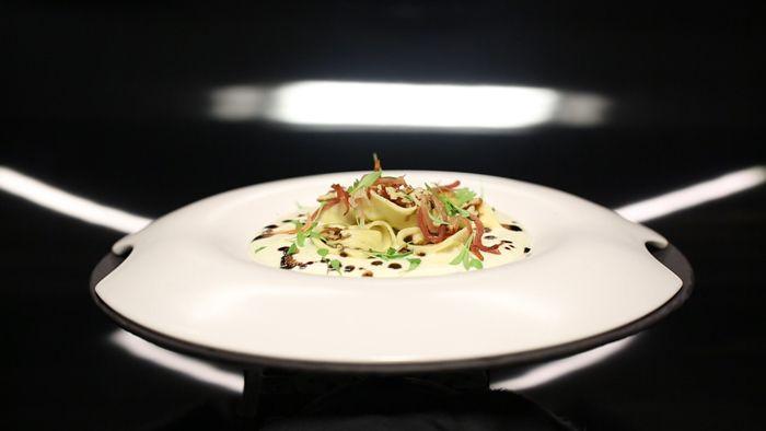 - Ravioli au gorgonzola- Julienne de speck - Réalisation