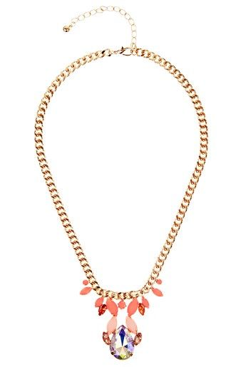Louche Teardrop Statement necklace, £12.
