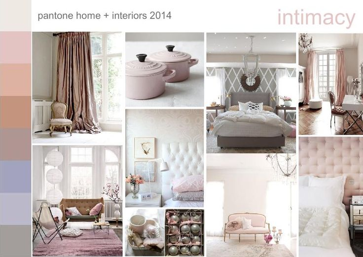 Pantone home + interiors 2014 color trend INTIMACY. Softly tactile, closely connected, yet subtly different #moodboard created on www.sampleboard.com