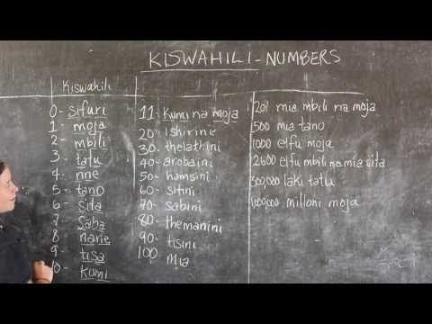 Video #3 - GO! presents: BEST Swahili Tutorials - NUMBERS (Live from Tanzania) - YouTube