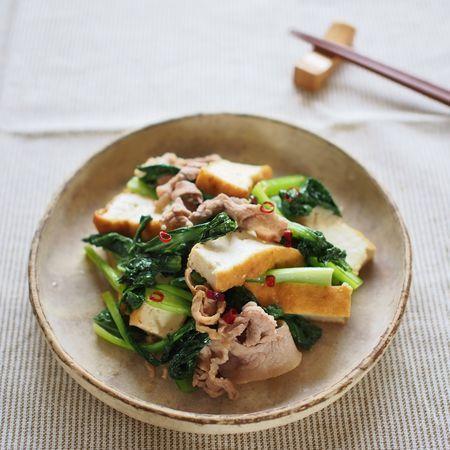 小松菜と豚薄切り肉の炒め煮