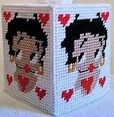 BETTY BOOP Boutique Size Tissue Box Cover by NiftyStitches4U