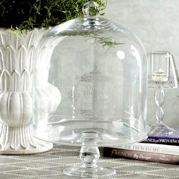 Obiet Trouve Cake Stand with Cloche
