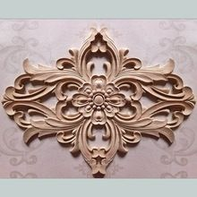 Wood Carving Dongyang Wood Carving Fashion Corners Applique Carved Door  Flowers Wood Shavings Cabinet Flower Furniture