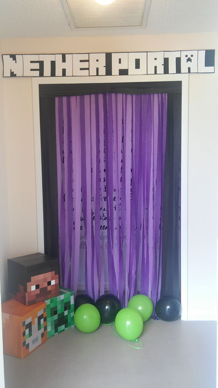 Emery's Minecraft Party DIY Nether Portal