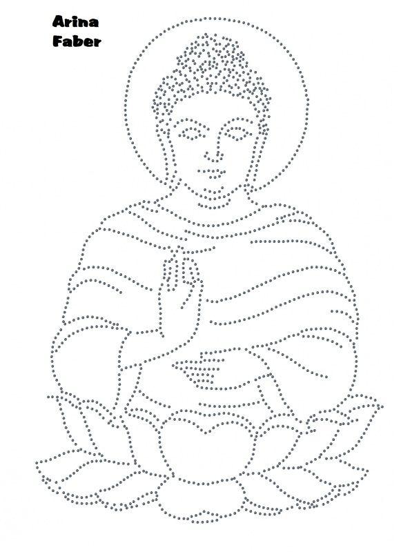 Boeddah op lotus | Religie | glittermotifs