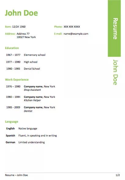 The  Best Free Resume Templates Word Ideas On