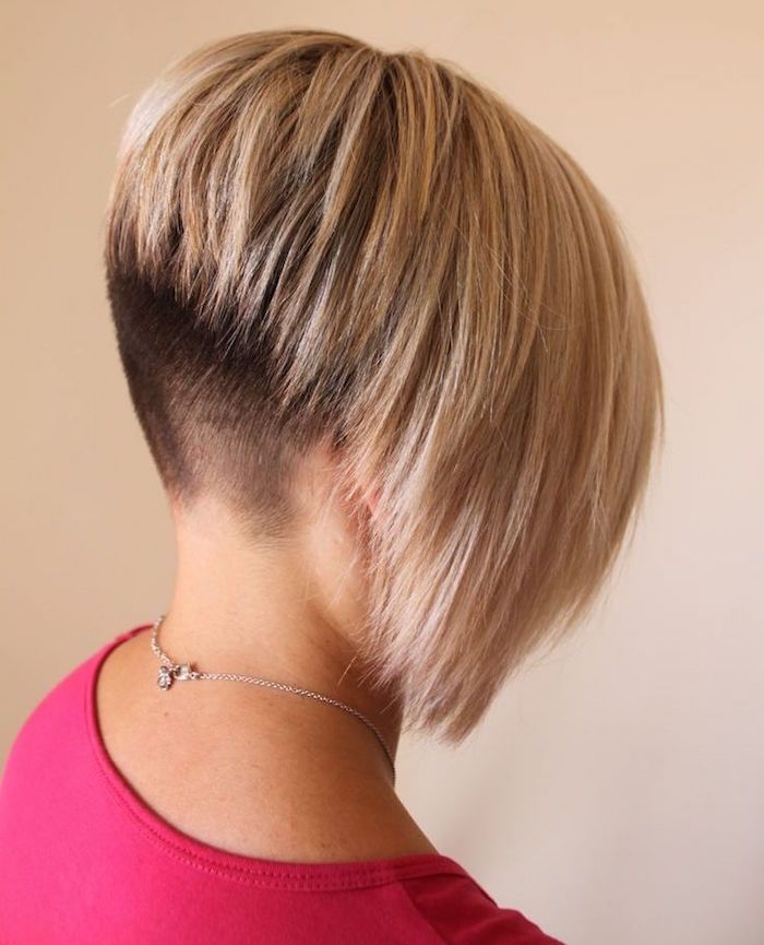 Best 25 inverted bob hairstyles ideas on pinterest inverted bob medium inverted bob and long - Carre plongeant nuque rasee ...