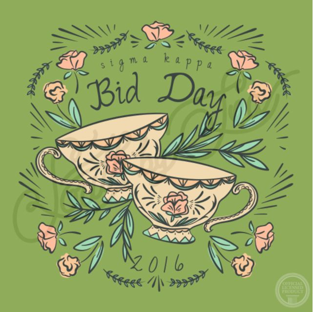 Bid Day | 2016 | Tea Party Theme | Sigma Kappa | South by Sea | Greek Tee Shirts | Greek Tank Tops | Custom Apparel Design | Custom Greek Apparel | Sorority Tee Shirts | Sorority Tanks | Sorority Shirt Designs