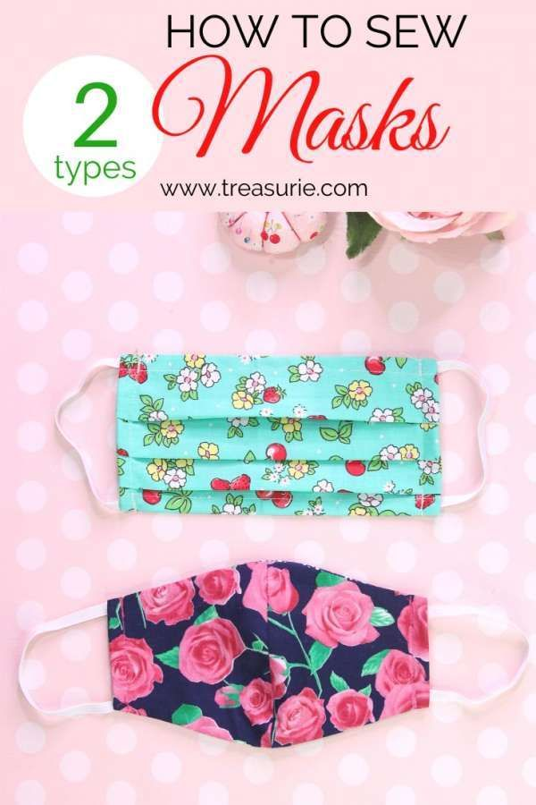 Diy Face Mask Sewing Patterns 2 Types In 2020 Easy Face Mask Diy Diy Sewing Pattern Diy Mask